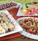 Variety of passed Hors D'oeuvres
