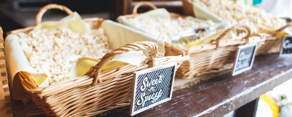 Crafty Baskets for Catered Food